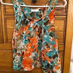 Millau sleeveless crop top, size S, fun colors